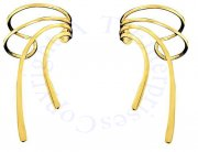 Gold Vermeil Long Wave Ear Cuff Set