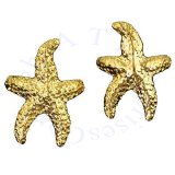 Gold Vermeil Pierceless Left Right Ocean Sea Star Starfish Ear Cuff