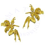 Gold Vermeil Left And Right Whispering Women Fairy Ear Cuff Set
