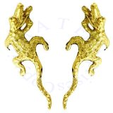 Gold Vermeil Left And Right Alligator Crocadile Ear Cuff Wrap Set