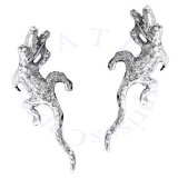 Left And Right Alligator Crocadile Ear Cuff Set