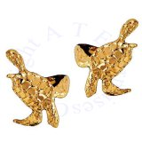 Left And Right 14k Gold Vermeil Sea Ocean Turtle Ear Cuff Wrap Set