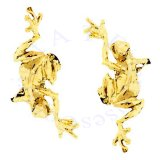 Gold Vermeil Left And Right Climbing Tree Frog Ear Cuff Set