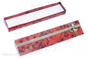 Red Marble Cardboard Bracelet Jewelry Gift Box