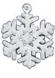 Sparkly Stardust Snowflake Charm