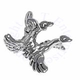 3D Two Geese Flying Together Charm
