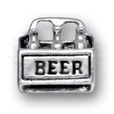 3D Six 6 Pack Of Bottled Beer Charm With Carrier