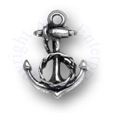 3D Anchor With Twisted Rope Charm