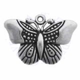 3D Antiqued Decorative Butterfly Charm