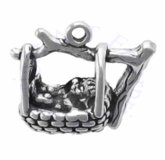 3D Rock A Bye Baby In Basket On The Tree Tops Charm