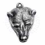 3D Grizzly Bear Head With Open Mouth Charm