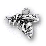 3D Bumble Bee Charm With Open Wings
