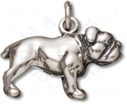 3D Standing Bull Dog Breed Charm