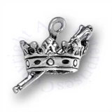 3D Kings Crown And Scepter Charm