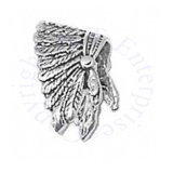 3D Detailed Feathered Indian Chief Headdress Charm