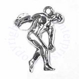 3D Man Throwing Discus Charm