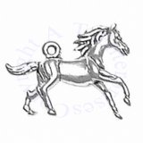 3D Galloping Horse Charm With Flowing Mane