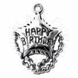 3D Happy Birthday Balloon Charm With Streamers