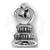 3D Heart With Bells Topper Wedding Cake Charm
