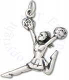 3D Jumping Cheerleader Charm