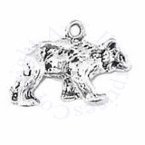 3D Large Walking Thin Bear Charm