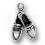 3D Men's Crossed Loafers Shoes Charm