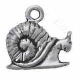 3D Mini Snail With Shell Charm