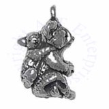 3D Mother And Baby Joey Koala Bears Sitting Up Charm