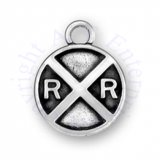 3D Railroad Train Crossing Sign Charm