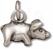 3D Small Pot Belly Pig Charm