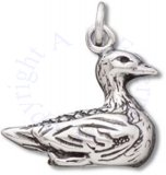 3D Swimming Duck Charm