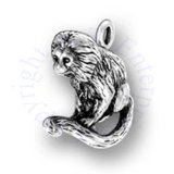 3D Monkey Charm With Curved Tail