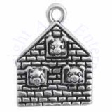 3D Three Little Pigs In Brick House Charm