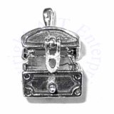 3D Treasure Chest Charm That Opens And Closes.