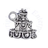 3D Wedding Cake Charm With Husband and Wife Cake Topper