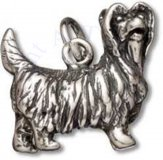 3D Standing Yorkshire Terrier Dog Breed Charm