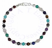 Multicolored Bracelet Silver Spacers