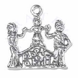 Mom Dad And Child Family ADOPT A KID Charm