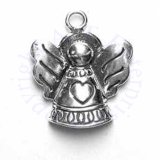 Angel With Heart In Center Of Dress Charm