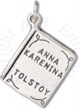 3D Two Sided Anna Karenina By Tolstoy Book Charm
