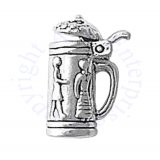 3D German Beer Stein Openable Lid With Man And Woman Charm