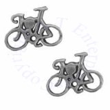 Bicycle Post Earrings
