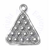 Sterling Silver 3D Billiard Pool Balls Racked Charm