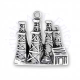 Oil Boom Town Wooden Oil Derricks Charm With Shack