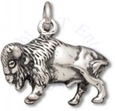 3D Detailed Standing North American Buffalo Or Bison Charm