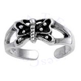 Split Shank Butterfly Adjustable Toe Ring