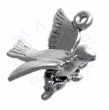 3D Calling Bird Or Dove Perched On Branch Charm