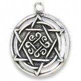 Round Circled Star Of David Charm