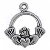 Claddagh Hands Holding Heart 3D Charm