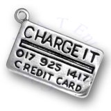 CHARGE IT Credit Card Charm